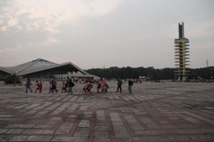 駒沢公園トレーニング40キロ腰の調整後