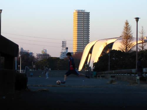 駒沢公園トレーニング50キロよい天気