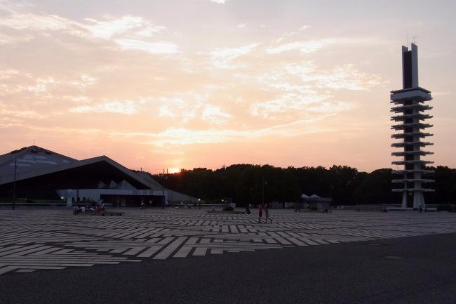 駒沢公園41キロ真夏だ