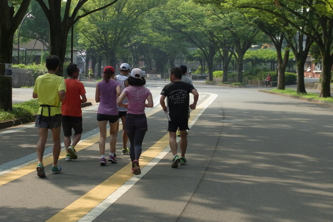 駒沢公園50キロ今日は35℃