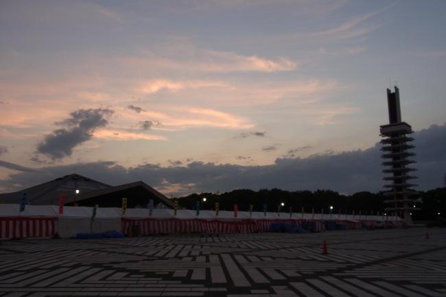 セミが鳴いてた駒沢公園49キロ